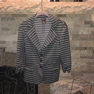Soho M striped blazer